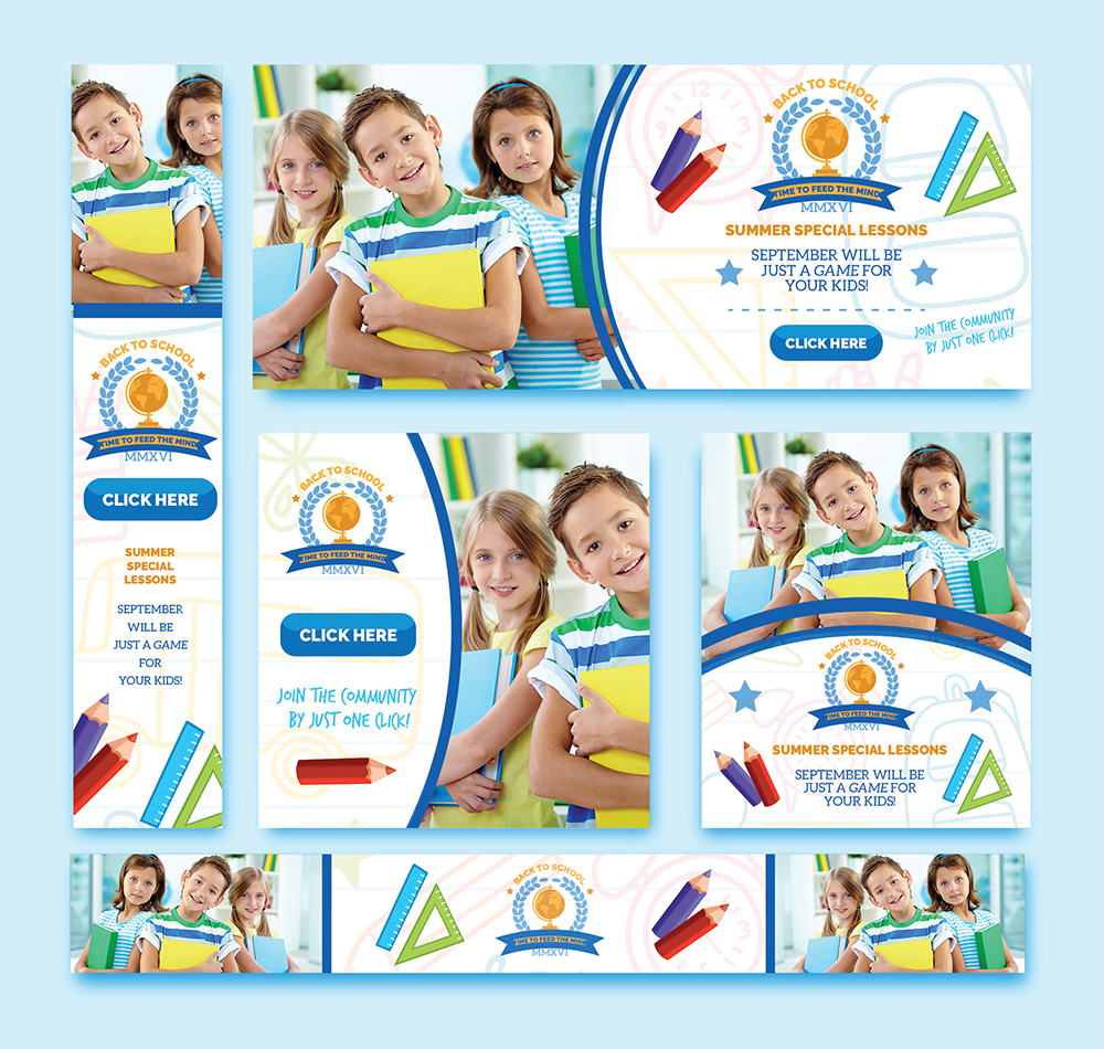 Web banners for kids' lesson
